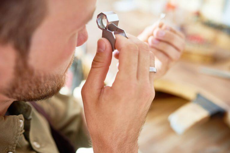 Ring Appraisal in Jewelry Shop