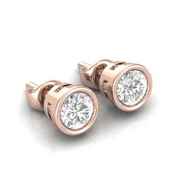 Diamond Studs Bezel