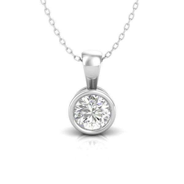 Diamond Pendant Bezel set