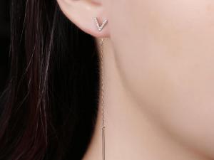 diamond drop earring
