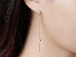 diamond drop earrings star